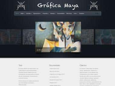 Wordpress site for Spanish artist