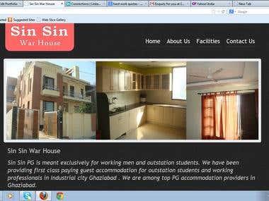SIN SIN WAR HOUSE WEBSITE