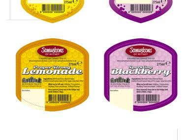 Lemonade drink labels