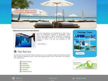 Link Line Intenationl -Home Page PSD Design