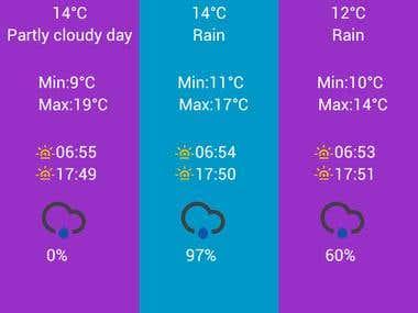 Rainy Day Android app