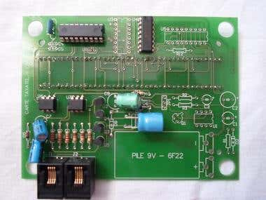 phone line pulse counter circuit (user side)