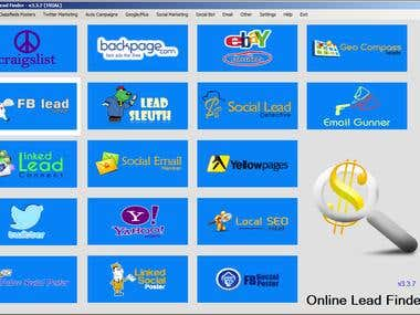 Online Lead Finder - Desktop application