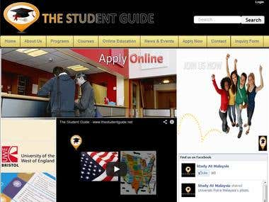 Student guide website that we have designed
