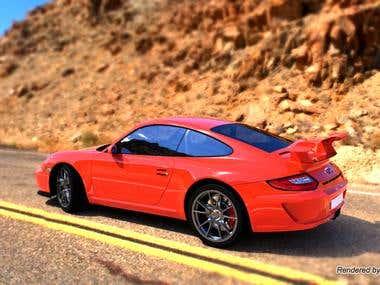 Porsche GT3 Rendering