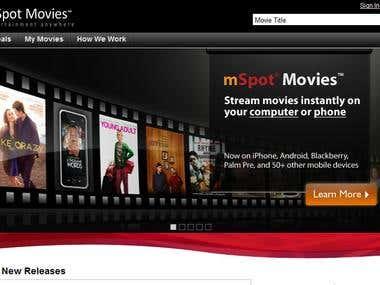 Movie Website Design