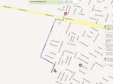 Cálculo de rutas google maps