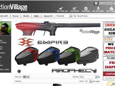 Sample Paint Ball Site Design