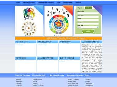 Astrology Web Portal