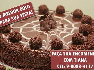 Cake seller card.