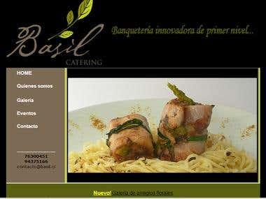 Desarrollo Web y Logo empresa banquetería.