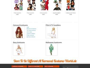 E-commerce website for Costumes