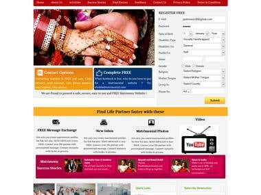 Matrimonial Site  - PHP