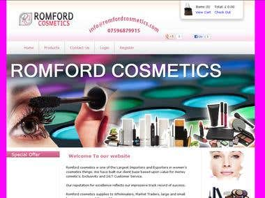 Romford Cosmetics, eCommerce application in ASP.Net