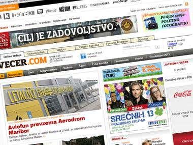 Webpage: Vecer.com