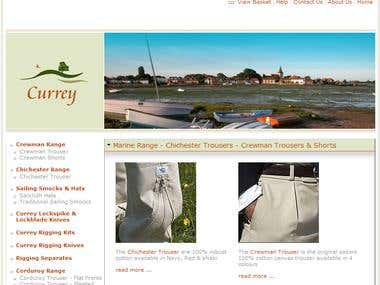 Captain Currey - Ecommerce Storefront