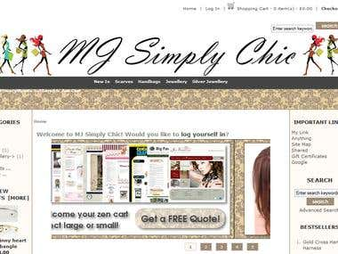mgsimplechick shoping cart website design