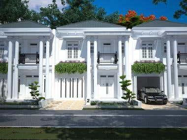 elegant american style town house design