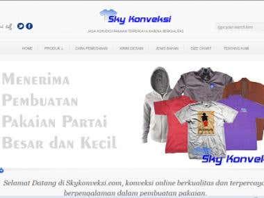 Web design for http://skykonveksi.com