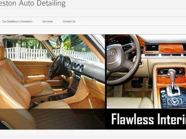 Joomla developed auto detailing website