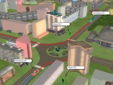 Real time 3D Model of the City of Novosibirsk