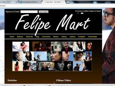 Desarrollo de Sitio Web para Artista