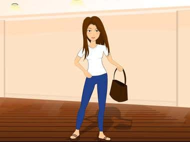 2D animation for fashion web store