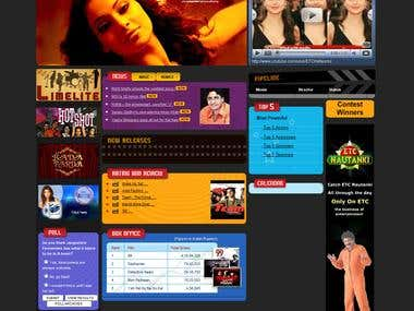 ETC Website - Entertainment Web Portal