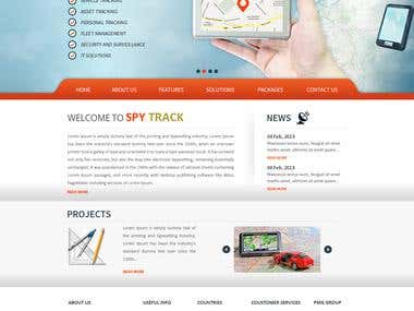 Spy Track Website Design