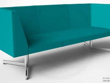 Burosit Impala Sofa Modeling and Rendering