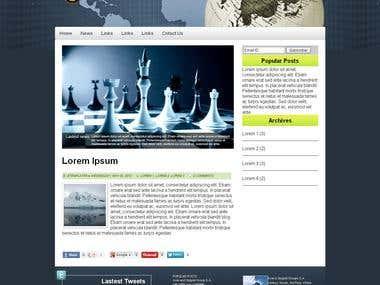 Blog site creation