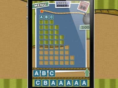 Word Boom Game App design
