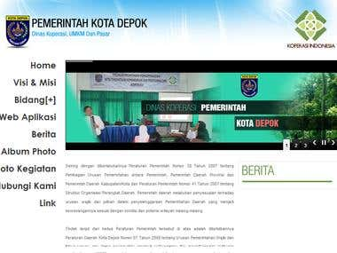 Website Dinas Koperasi Kota Depok
