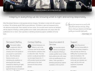 Recruitment Service Website Design and Management