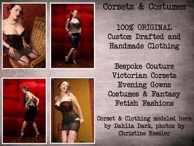 Some of the lovely custom corsets I make!