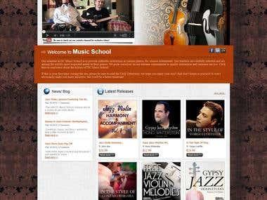 DC Music School – Music eCommerce