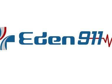 Eden logo mockup