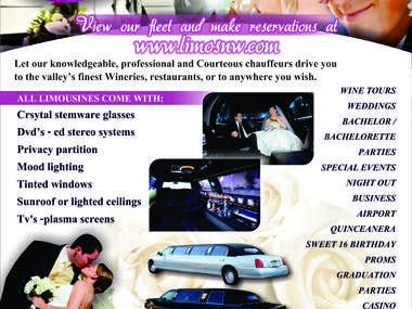 Flyer design for Limos NW