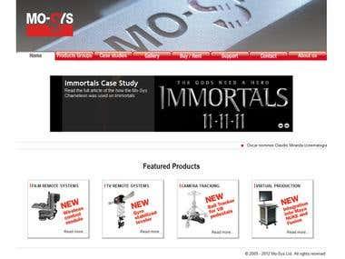 Mo-Sys Website Development