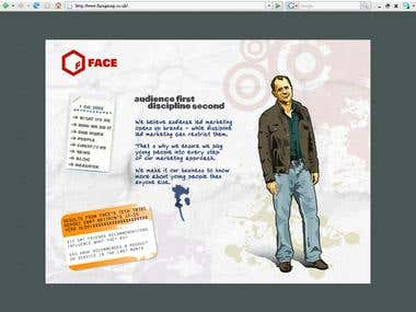Facegroup Marketing group site (Old version)