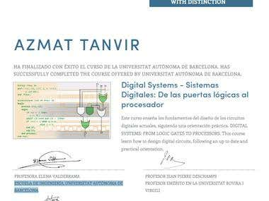 Certificate of Digital Systems