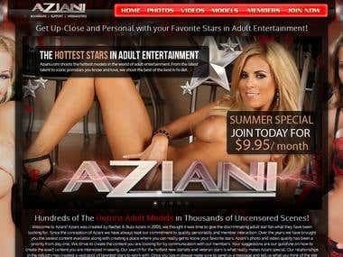 XXX membership website - Aziani.com