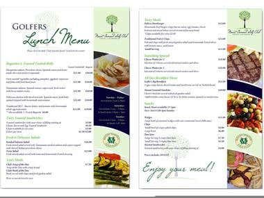 Advertising Design - Menu Design 1-5