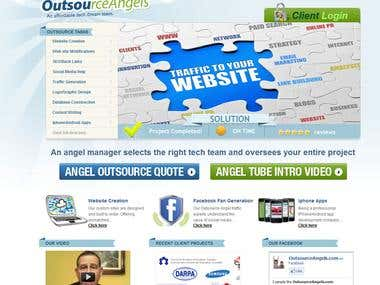 Website Design for Outsource Angels