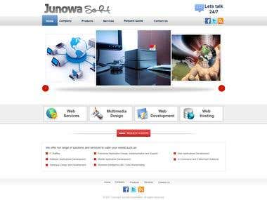 Home Page Design(PSD)