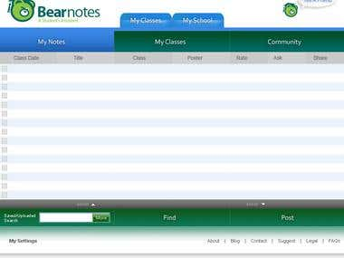 Facebook Application for BearNote