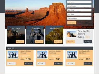 Travel Agency Home page Template bootstrap3 Based