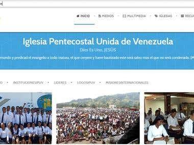 Website IPUV in Venezuela CMS Joomla and ACL for Departament
