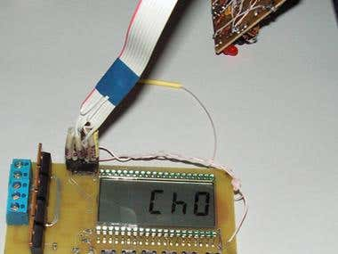Temperature controller with LCD