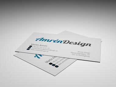 Business card design and 3D-visualization